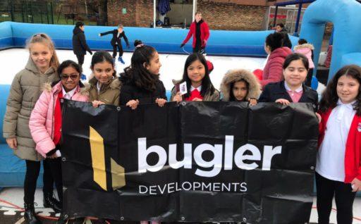 Bugler sponsors school ice rink