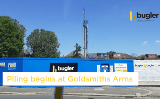 PILING BEGINS AT GOLDSMITHS ARMS