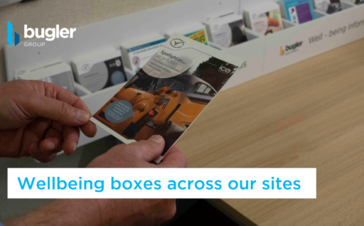 Wellbeing boxes across our sites provide advice and guidance